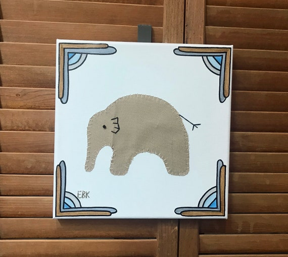 Baby Elephant #9 Fabric Wall Art