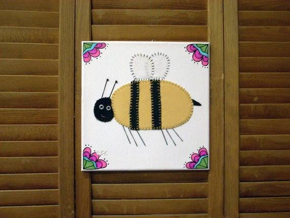 Bee #3 Fabric Wall Art