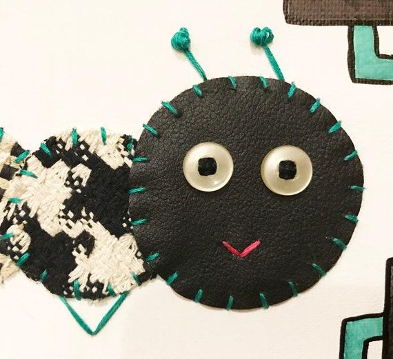 Baby Inchworm #27 Fabric Wall Art