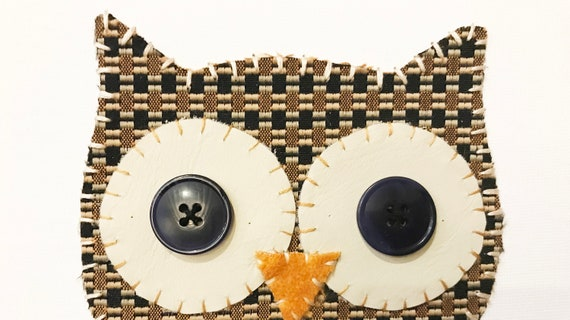 Owl Head #9 Fabric Wall Art