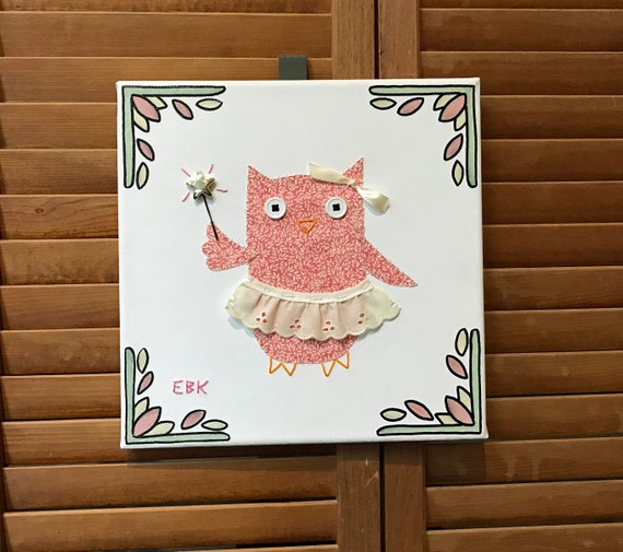Fairy Owl #7 Fabric Wall Art