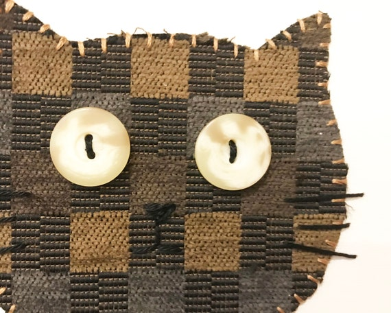 Cat Head #7 Fabric Wall Art