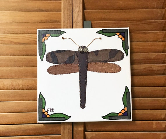 Dragonfly #4 Fabric Wall Art