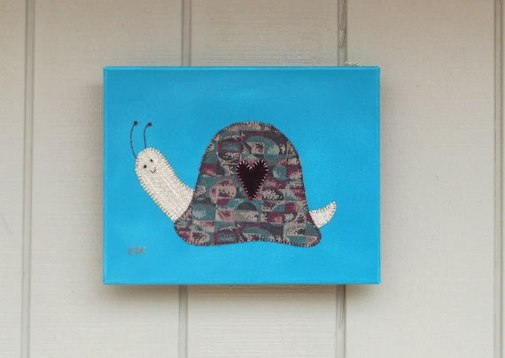Snail #4 Fabric Wall Art