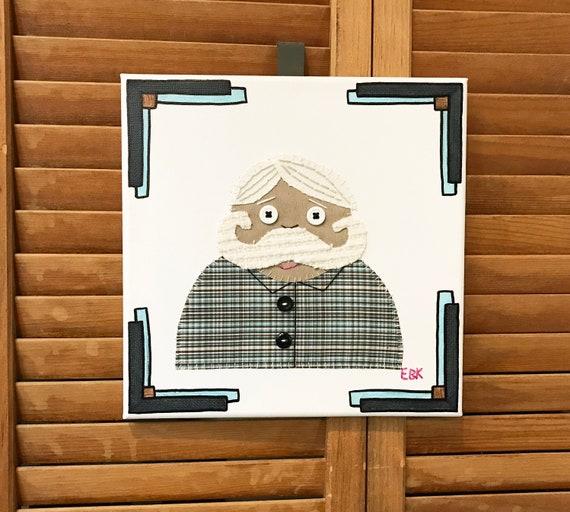 Mustache Guy #4 Fabric Wall Art