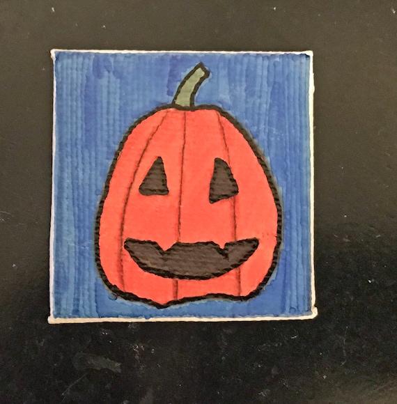 Halloween Tiny Magnet #5 Original Illustration on Canvas Board