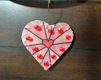 Ornament-Heart #5-Cat Friendly!
