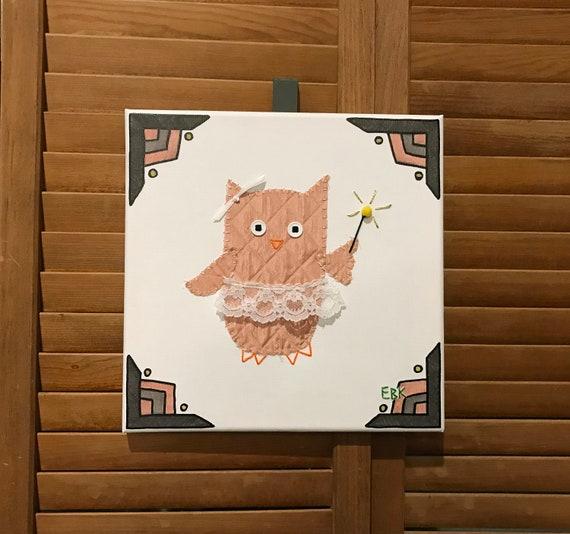 Fairy Owl #10 Fabric Wall Art