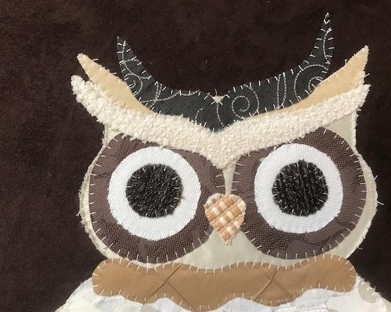 Large Owl #5 Fabric Wall Art