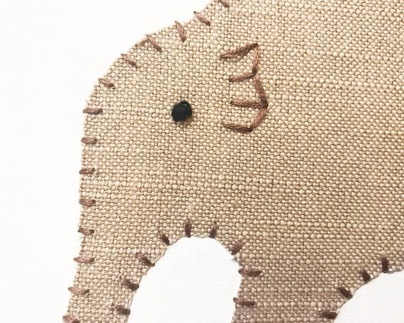 Baby Elephant #14 Fabric Wall Art