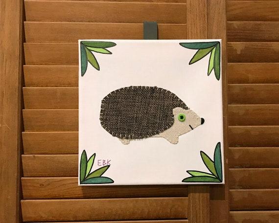 Hedgehog #4 Fabric Wall Art
