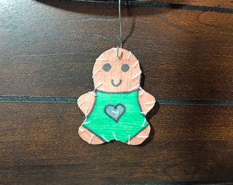 Ornament-Small Gingerbread #1-Cat Friendly!