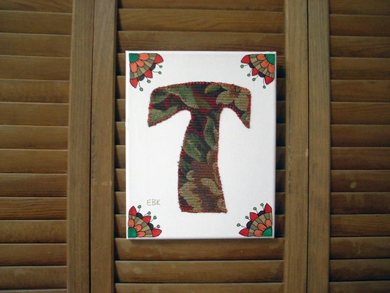 Initial T #1 Fabric Wall Art