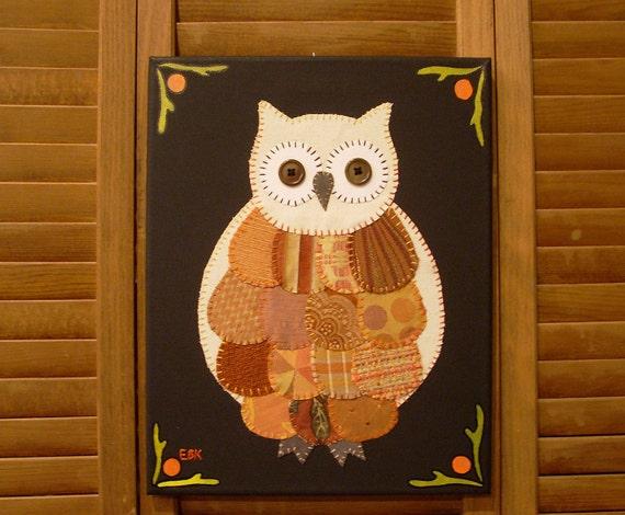 Small Owl #2 Fabric Wall Art