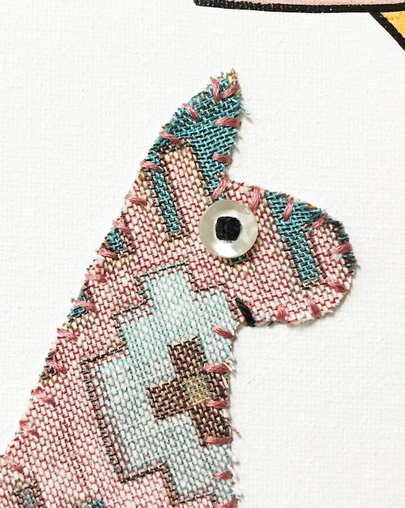 Llama #1 Fabric Wall Art