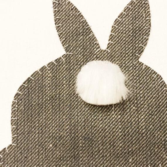 Bunny Butt #3 Fabric Wall Art