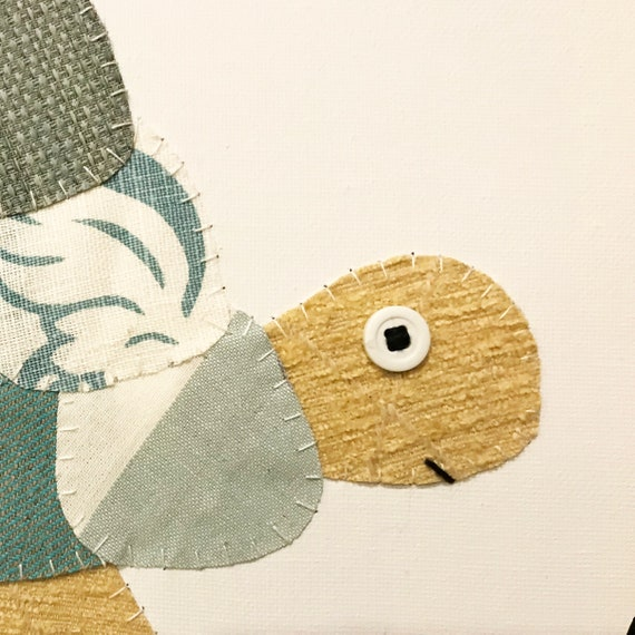 Side Turtle #6 Fabric Wall Art
