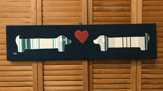 Dachshund Love #5 Fabric Wall Art