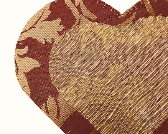 Hearts #5 Fabric Wall Art