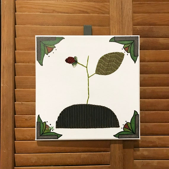 Bud #1 Fabric Wall Art