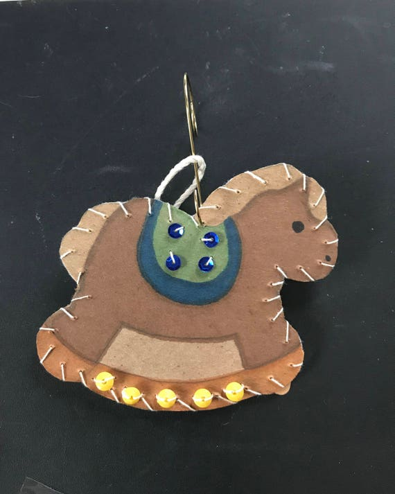 Rocking Horse Ornament 1 2017