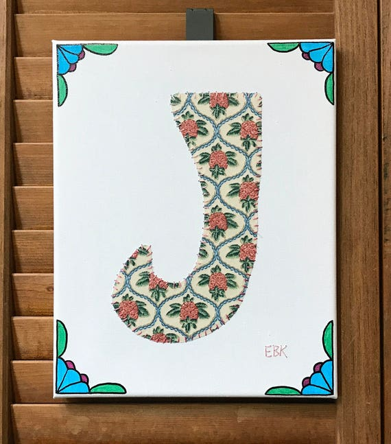 Initial J #2 Fabric Wall Art