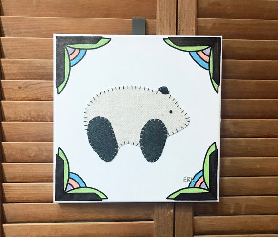 Baby Panda #3 Fabric Wall Art