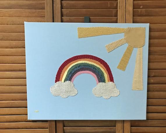 Rainbow #5 Fabric Wall Art