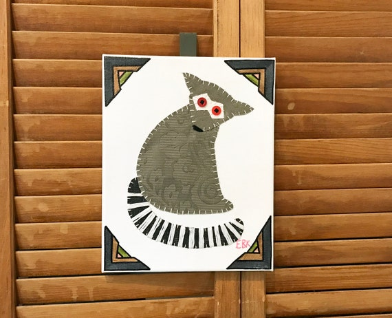Lemur #3 Fabric Wall Art