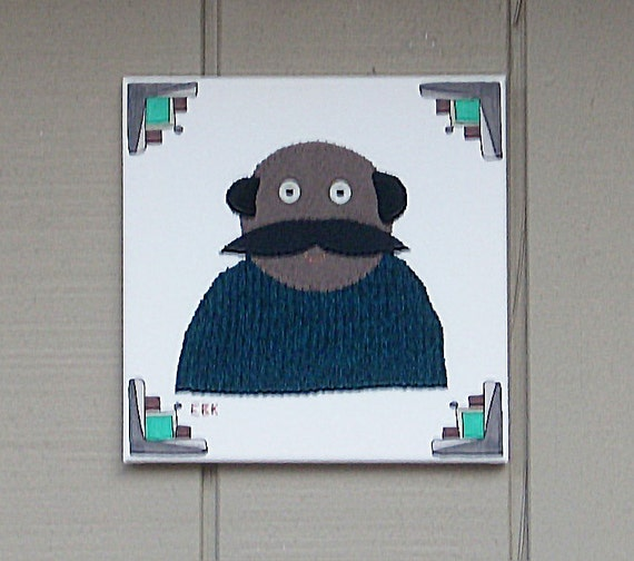 Mustache Guy #3 Fabric Wall Art