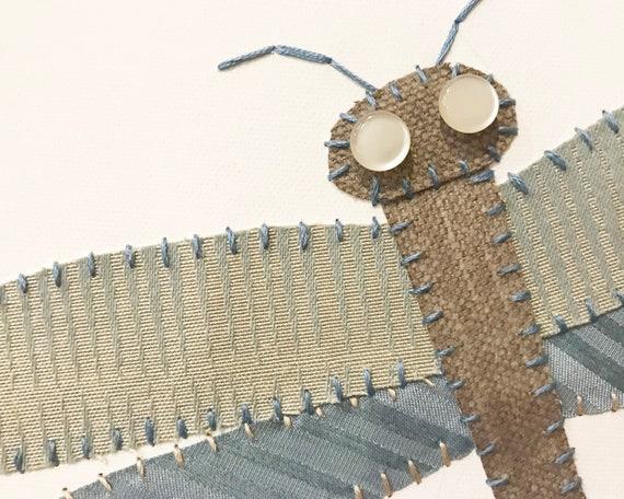 2 Dragonflies #4 Fabric Wall Art