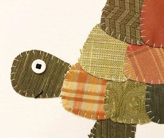 Side Turtle #7 Fabric Wall Art