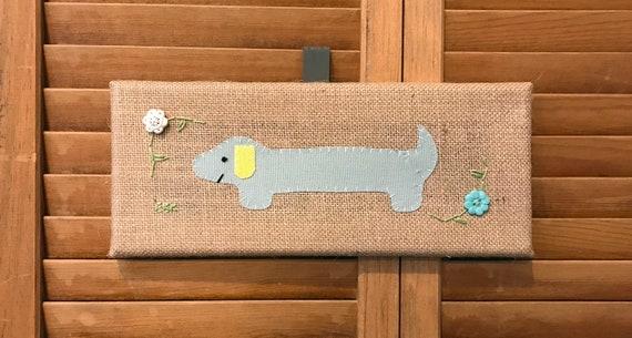 Mini Dachshund #4 Fabric Wall Art
