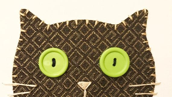 Cat Head #5 Fabric Wall Art