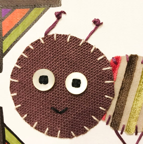 Baby Inchworm #35 Fabric Wall Art