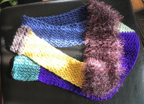 Patch Scarf #2 Hand Knit Scarf