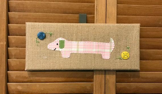 Mini Dachshund #3 Fabric Wall Art