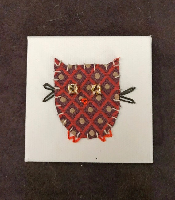Little Owl #5 Fabric Wall Art