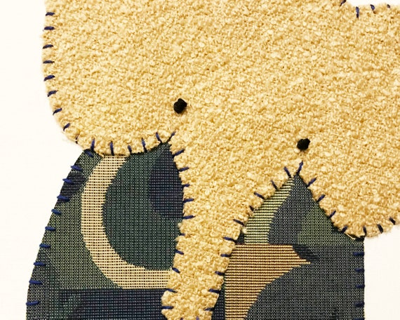 Sitting Elephant #14 Fabric Wall Art