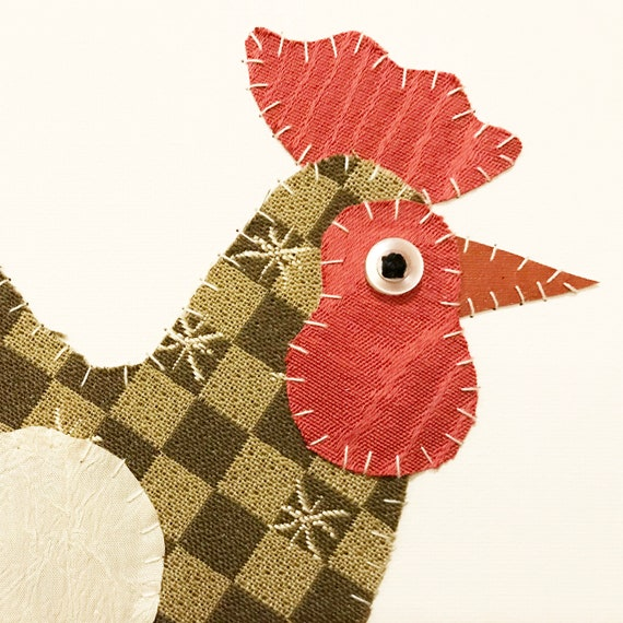 Rooster #2 Fabric Wall Art