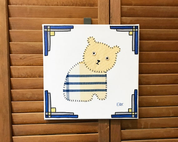 Sitting Bear #4 Fabric Wall Art