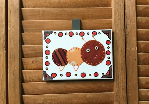 Baby Inchworm #18 Fabric Wall Art
