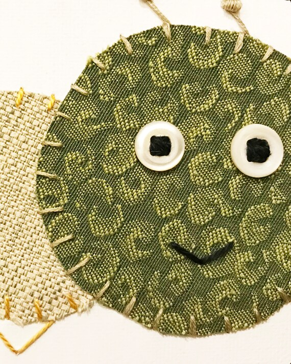 Baby Inchworm #30 Fabric Wall Art