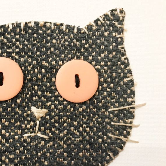 Cat Head #6 Fabric Wall Art