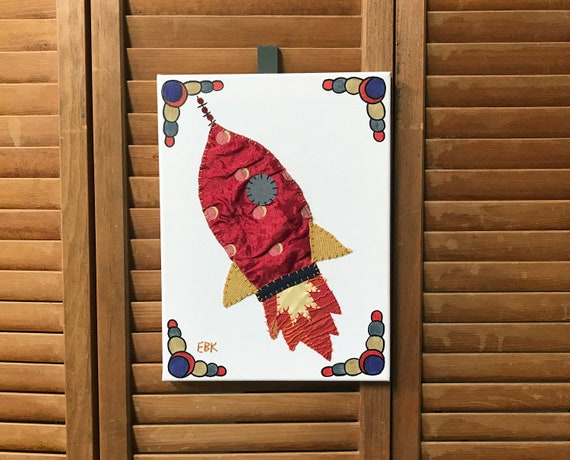 Rocket #1 Fabric Wall Art