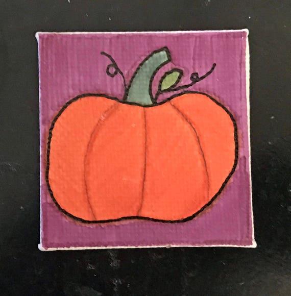 Halloween Tiny Magnet #8 Original Illustration on Canvas Board