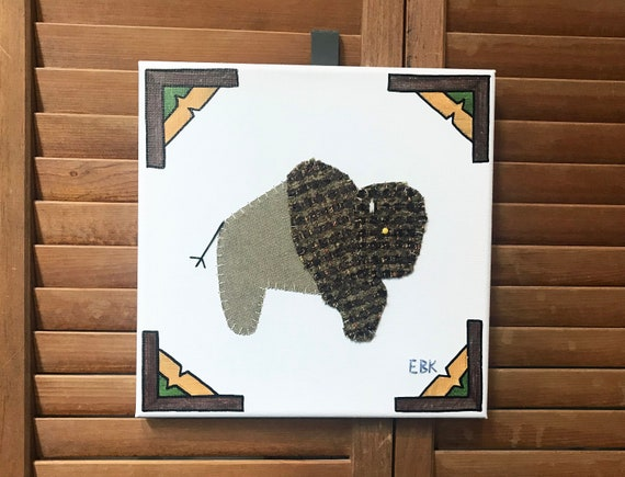 Bison #2 Fabric Wall Art
