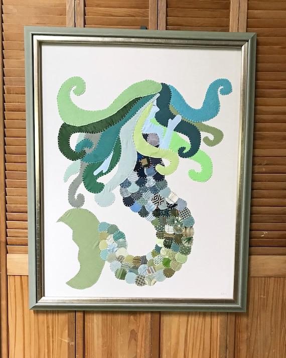 Large Mermaid #1 Fabric Wall Art