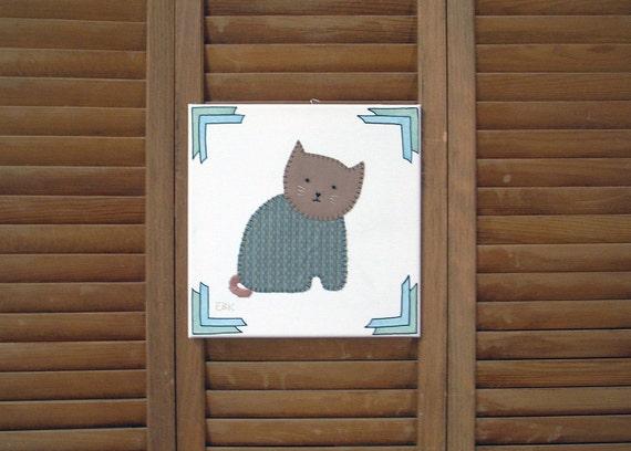 Sitting Cat #4 Fabric Wall Art