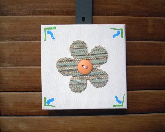 Button Flower #2 Fabric Wall Art